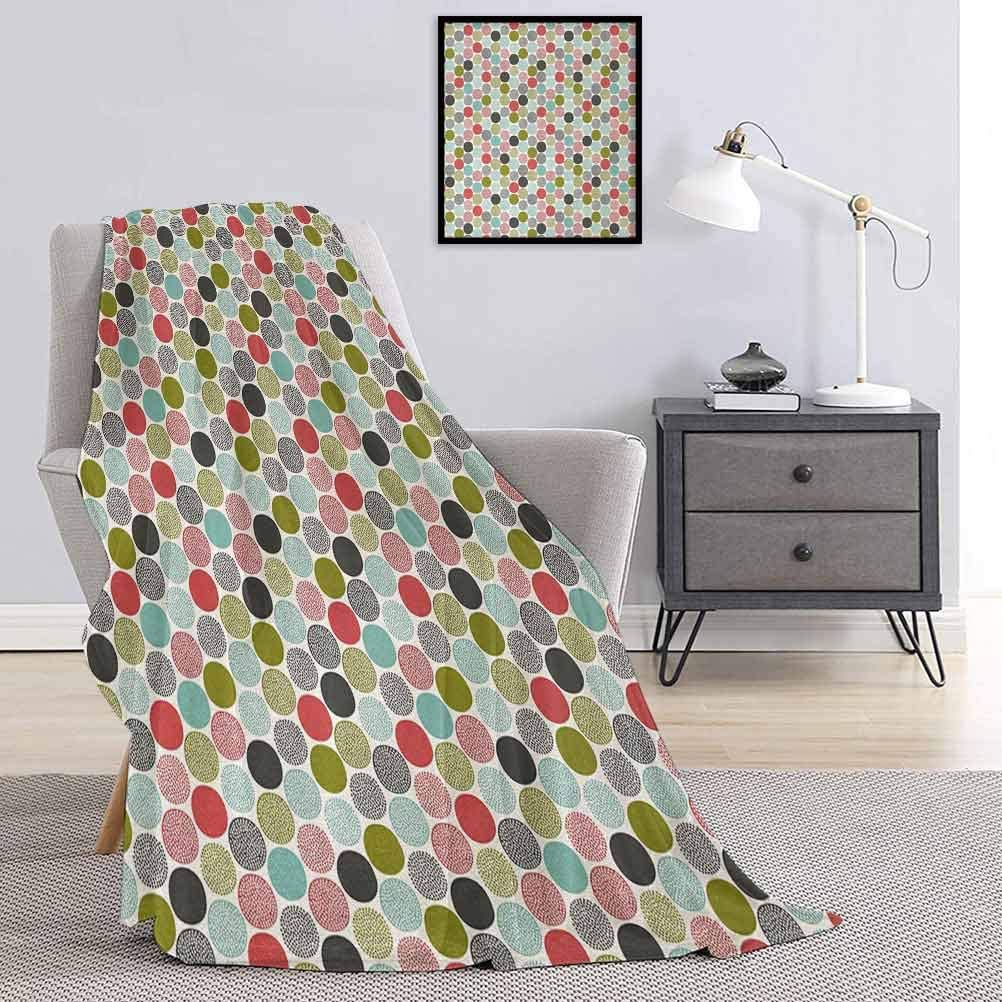 Colorful Bed Blanket Abstract Circles Retr and Doodle San Antonio Mall Style 2021 spring and summer new Dots