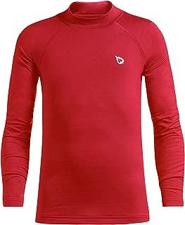 Youth Boys' Compression Thermal Shirt Fleece Baselayer Long Sleeve Mock Top
