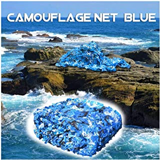 Al Aire Libre Caza Militar Red De Camuflaje Azul Malla de Camuflaje Del Ejército Red Sombra Toldos Abrigo para Cámping Tie...