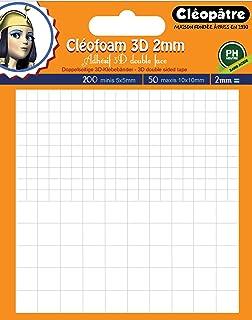Cléopâtre - SCRAP-M2 - Cléofoam - Carrés Mousse adhésifs 2 mm d'épaisseur Prédécoupé