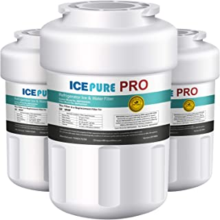 ICEPURE PRO NSF53&42 Certified MWF Compatible with GE SmartWater MWFP, MWFP, MWFA, GWF, GWFA, HDX FMG-1, Kenmore 9991, 46-9991 Refrigerator Water Filter, 3PACK