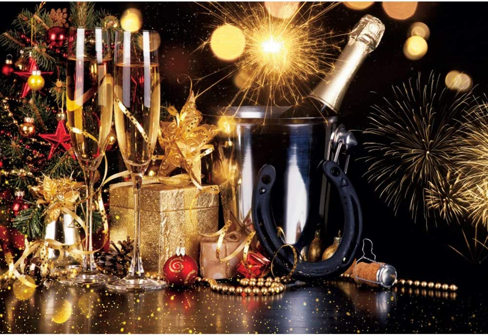 DORCEV 12x10ft Merry wholesale Christmas Champagne Raleigh Mall Backdrop Photography Wi
