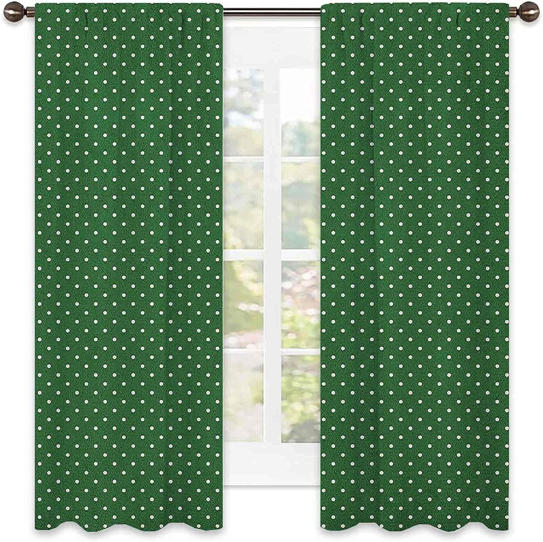 Christmas Shading Insulated Curtain half Charlotte Mall Retro Dots Style Patt Polka