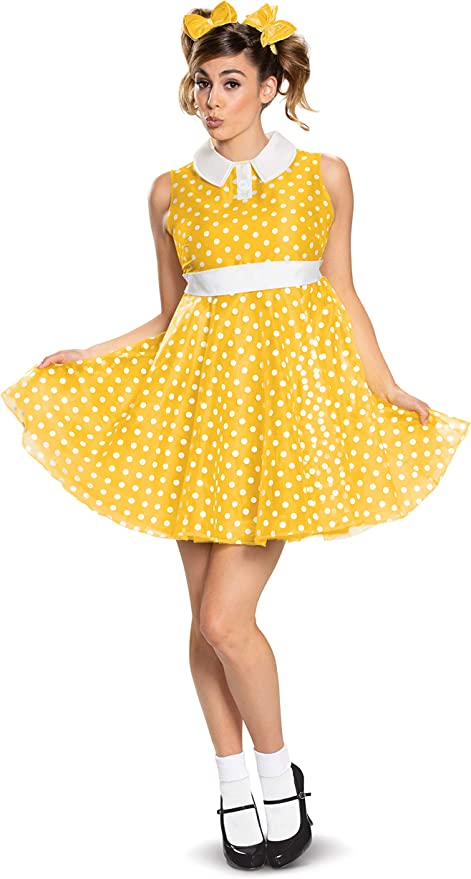 1950s Costumes- Poodle Skirts, Grease, Monroe, Pin Up, I Love Lucy Toy Story Gabby Gabby Womens Deluxe Costume  AT vintagedancer.com