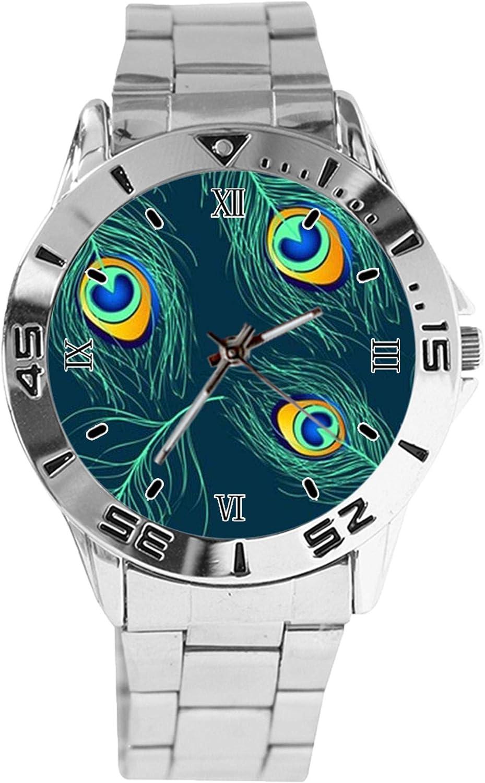 Peacock Design Memphis Mall Analog Wrist Watch Sta Quartz Silver Ranking TOP20 Classic Dial