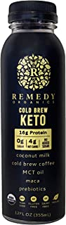 Remedy Organics Cold Brew Keto 12-Pack | Plant Based Protein Shakes, Ready to Drink | USDA Organic, Gluten Free, Dairy Fre...