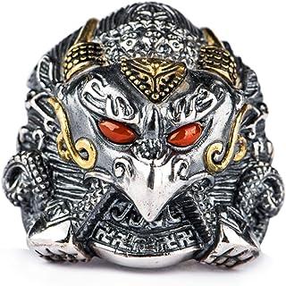 خاتم خاتم رجالي من الفضة الإسترلينية S925 خاتم للرجال والنساء، خاتم قابل للتعديل بمقاس أفضل هدية