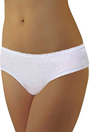 29a737ae1b502 Underworks 20-Pack Womens Disposable 100% Cotton Underwear Travel- Hospital  Stays- Emergencies