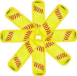 8 Pack Ice Pop Sleeves Popsicle Holders Bags Neoprene Softball Ice Pop Holders Yellow