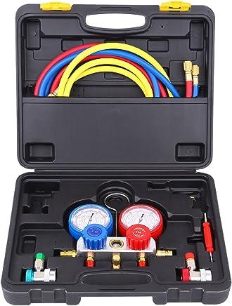 Ambienceo Kit de refrigeración automotriz de calibrador de múltiple de aire / acondicionado de aire acondicionado