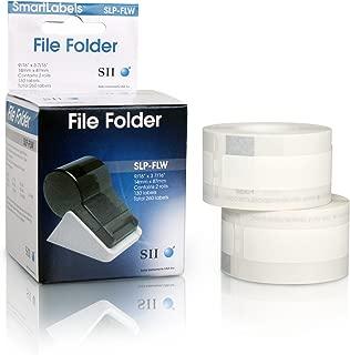 Seiko Instruments White File Folder Labels for Smart Label Printers (SLP-FLW)