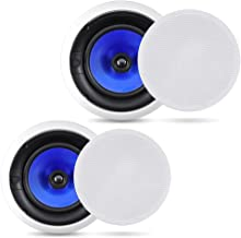 2-Way In-Wall In-Ceiling Speaker System – Dual 8 Inch 300W Pair of Ceiling Wall..
