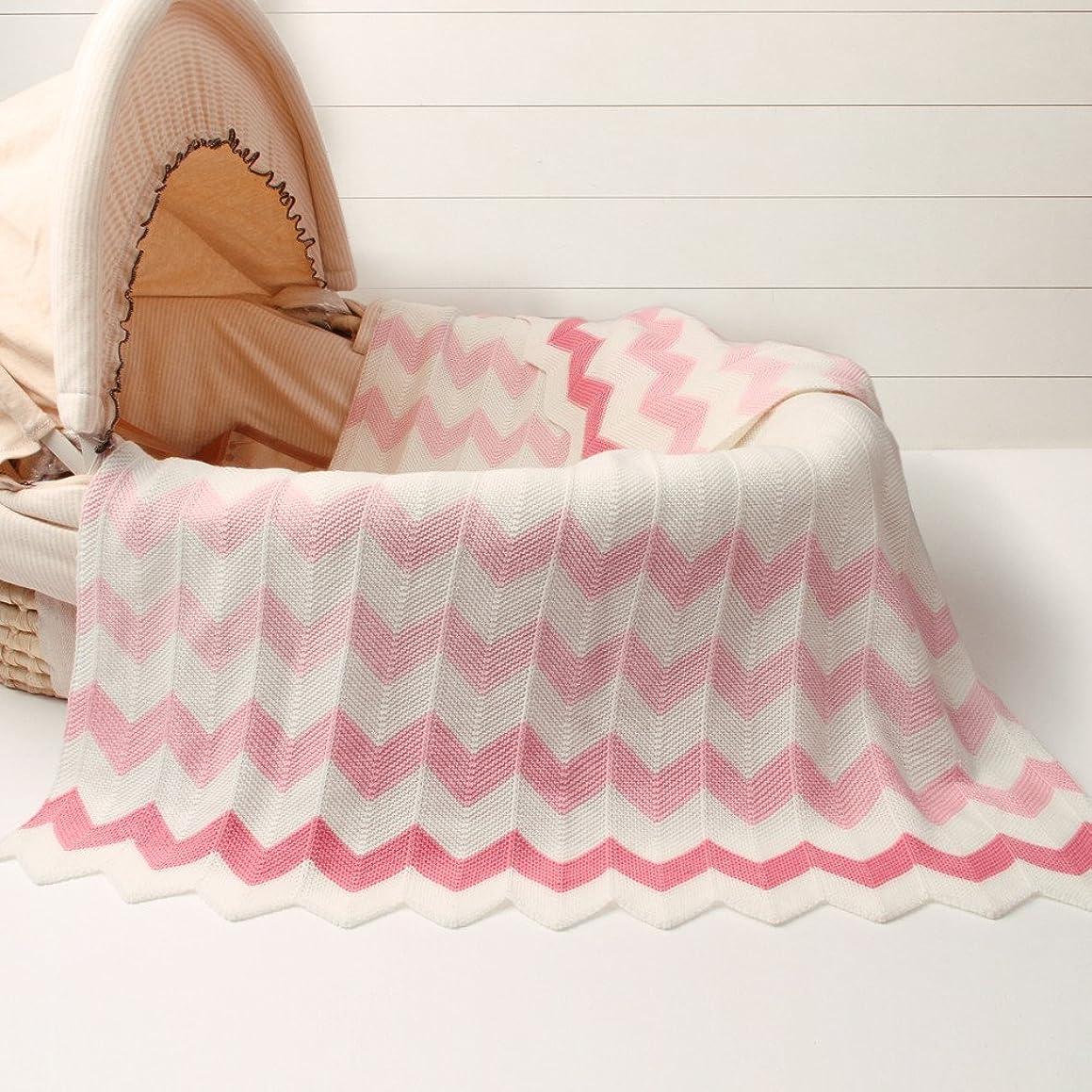 "Luerme Baby Knitted Blanket Throws Newborn Crochet Quilt Receiving Blanket Swaddle Wrap Stroller Cover Nursing Blanket Crib Rug Mat Print Blanket Warm Cuddle Sheet 30""X40"" (Pink)"
