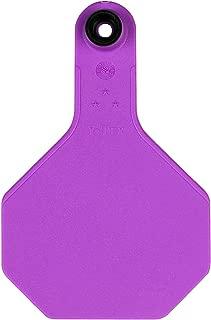 Y-Tex Product Medium 3-Star All American Cattle Ear Tags Flexible Purple Blank