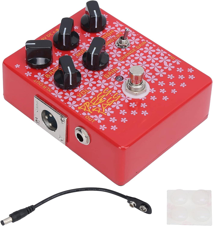 Controlador de pedal de efectos de bajo Eujgoov, controlador de pedales de 9 V CC con salida XLR CP-59 con amplificador de tubo DI