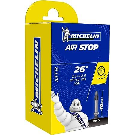 Michelin C4 26x1.5/2.5 Cámara MTB 26 x 1.50-2.20 válvula (Fina), Unisex Adulto, Negro, Presta 60 mm