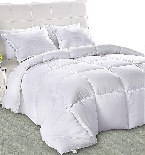 Utopia Bedding Légère Couette - Couette ete - Couette 4 Saisons - Couette Blanc avec Onglets d'angle - Couverture - C...