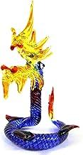 Spk Art Handmade Craft Blown Glass Lampwork Snake Naka Figurine Glass Sculpture Home Resort Decor