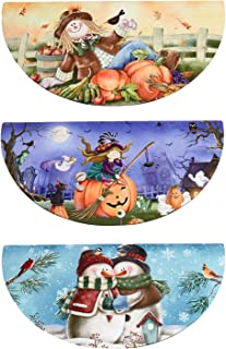 The Lakeside Collection Interchangeable Seasonal Doormats - Welcome Mats - Set of 3 - Fall/Winter