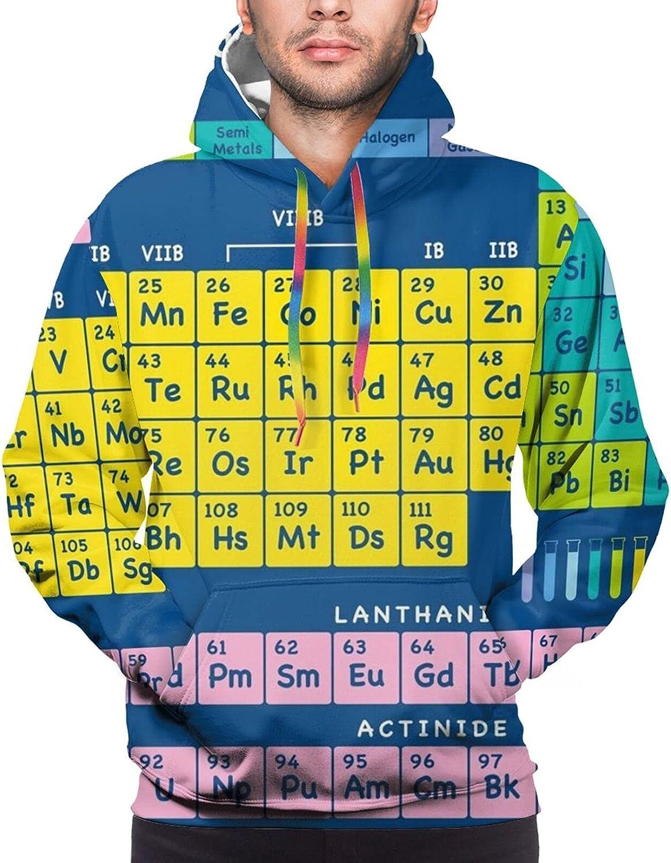 Hoodie For Mens Womens Teens Periodic Table Of Elements Hoodies Fashion Sweatshirt Drawstring