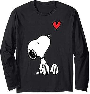 Heart Sitting Snoopy Long Sleeve T-Shirt