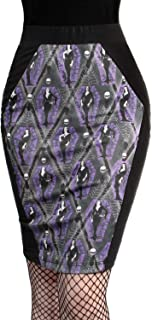 Vampira Arghoul Black Purple Coffin Pencil Skirt Made in USA