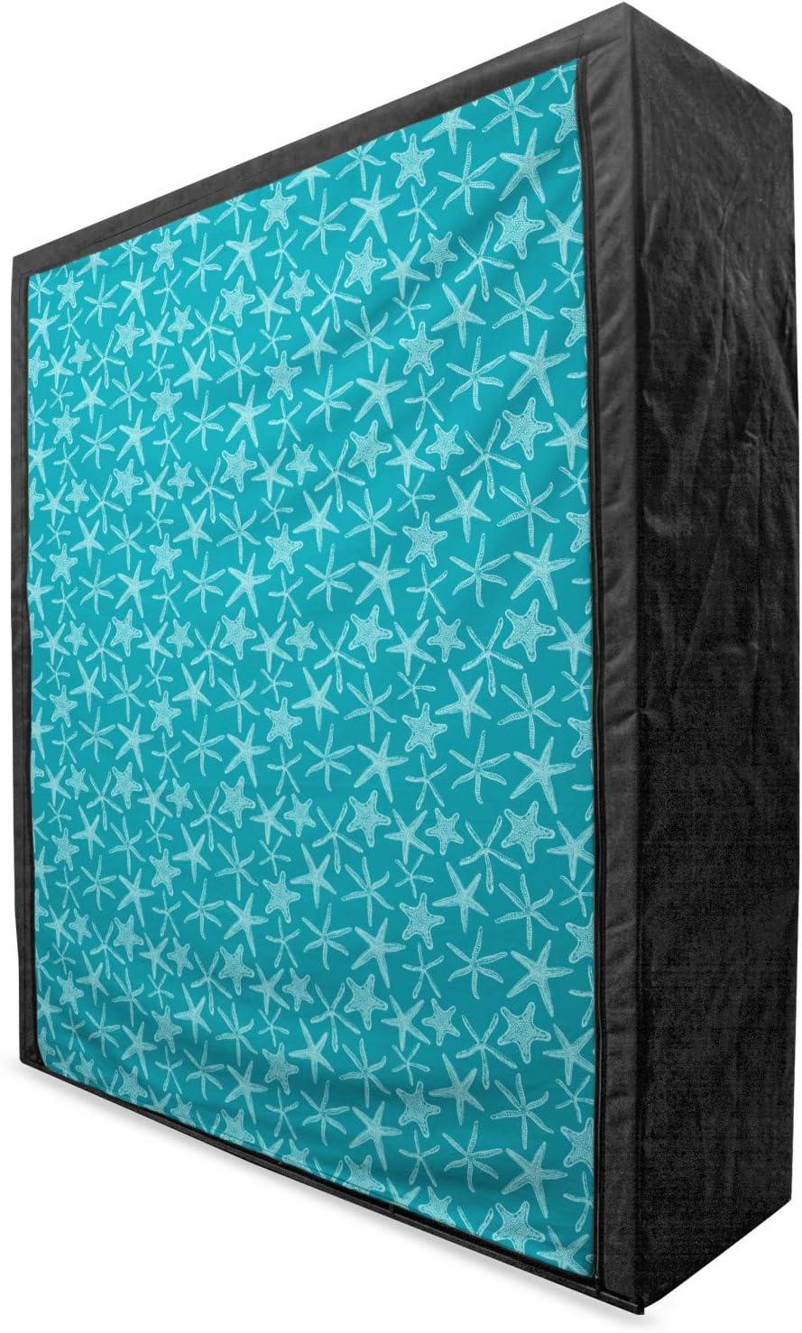 Lunarable Teal Portable Fabric Wardrobe Han Theme Aquatic We OFFer at cheap prices Fauna Regular store