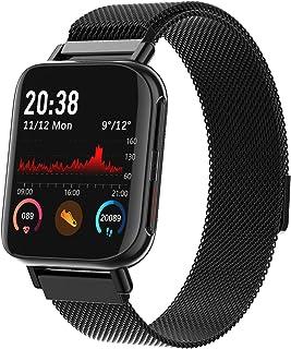 Smart Watch, Geschikt Voor Ios Android, Hartslag Bloeddruk Detectie Fitness Smartwatch Bluetooth Muziek Waterdichte Sport ...