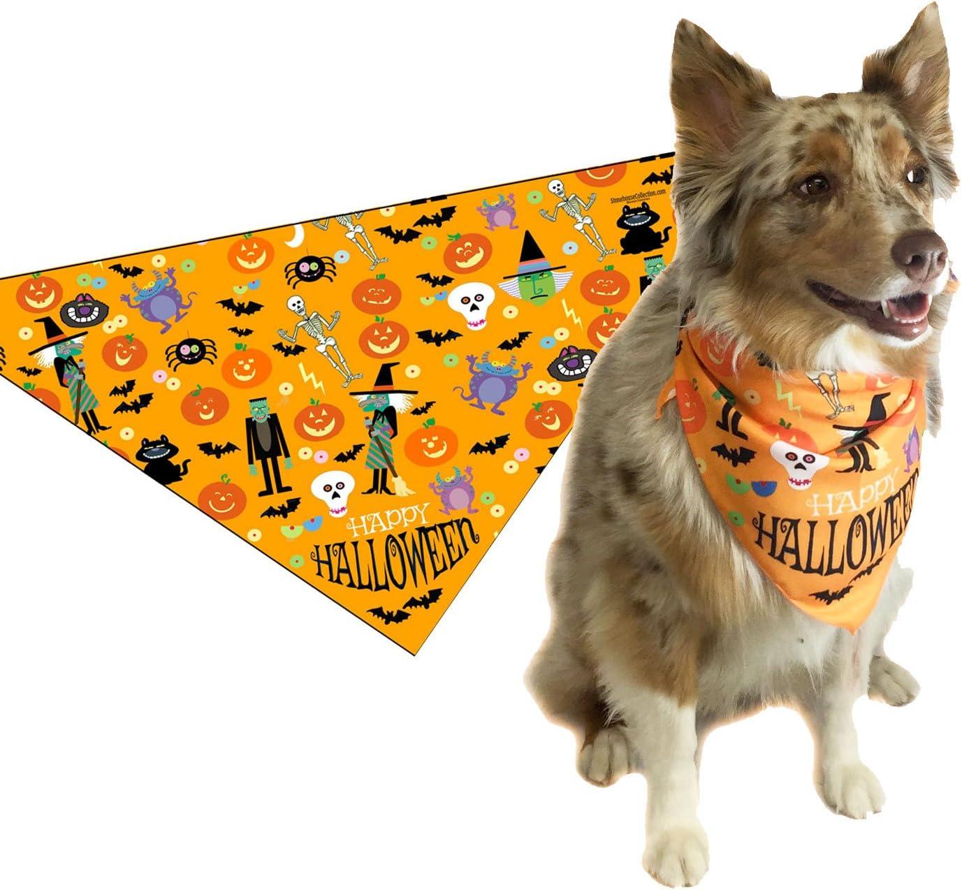 Medium Fall SALE Halloween Dog Bandanas Fall Themed Cat Bandanas Autumn Pet Neckwear