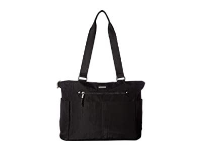 Baggallini New Classic Destination Tote with RFID Wristlet (Black) Handbags