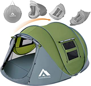 4 Person Easy Pop Up Tent Waterproof Automatic Setup 2...