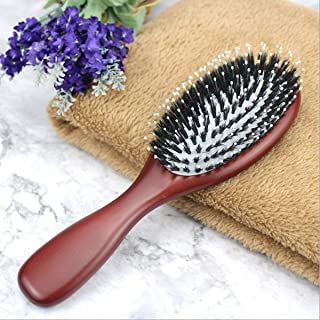Natural Bristles Hair Brush,Hair Brush for Women Men Kids for Thick Curly Thin Long Short Wet or Dry Hair Adds Shine and M...