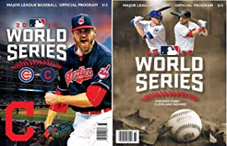 2016 WORLD SERIES PROGRAM SET OF 2 CLEVELAND INDIANS & DUELING TWO TEAM VERSION