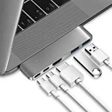 Purgo USB C Hub Adapter Dongle for MacBook Air 2018/2019, MacBook Pro 2019/2018-2016, Ultra Slim Type C Hub with 4K HDMI, 100W Power Delivery, 40Gbps Thunderbolt 3 5K@60Hz and 2xUSB 3.0 (Space Grey)