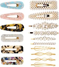 TOOGOO Fashion Hair Clips Set,16 Pcs Artificial Pearl Hair Clips Hair Pins Hair Barrettes Decorative Gold Bobby Pins For Women And Ladies Headwear Styling Tools