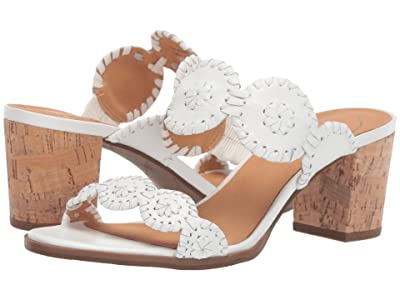 Jack Rogers Lauren Mid Heel (White/White) Women