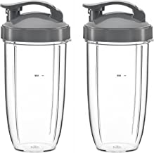 NutriBullete Cups for NUTRIBULLET 5 pc Set, 32 oz. Tall (2 Pack) with Flip Top to-Go Lid & Lip Ring - NutriBullet Parts