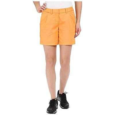 Nike Golf Oxford Shorts (Vivid Orange/White) Women