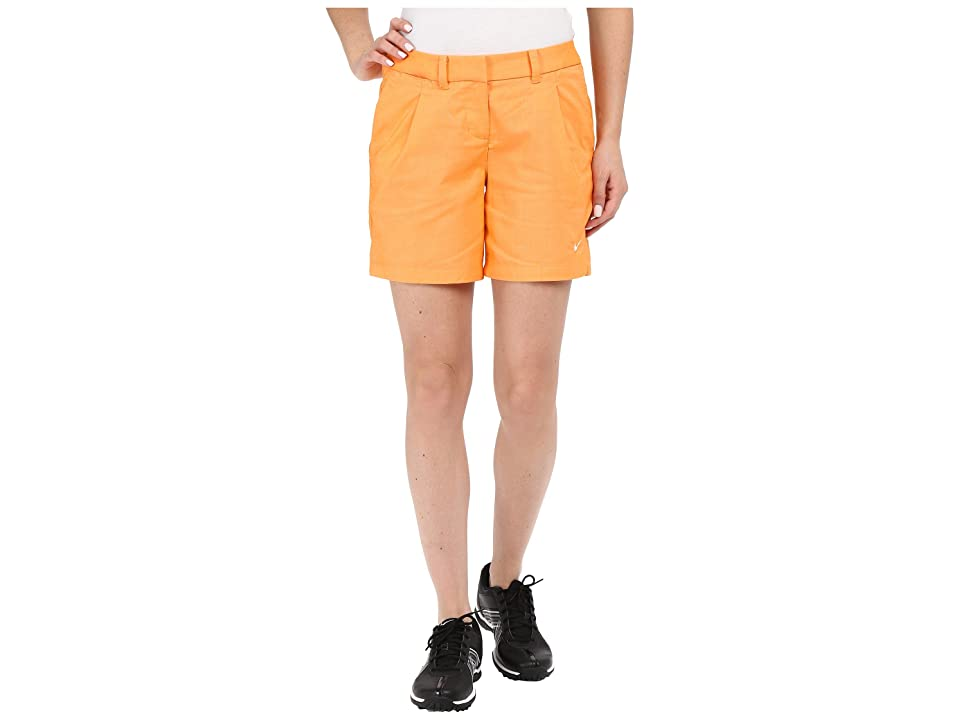 Nike Golf Oxford Shorts (Vivid Orange/White) Women