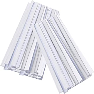 Lomodo 200 Pack Peel and Stick Tin Ties Coffee Bag Tin Ties Tea Bag Sealing Strip Plastic Sealing Strips,5.5 Inches, White