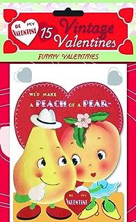 15 Vintage Valentines: Funny Valentines: 15 Die-Cut Cards in Bag with Decorated Envelopes