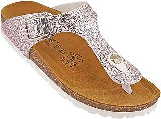 012-357 Biochic Girls Sandals Leather Pink