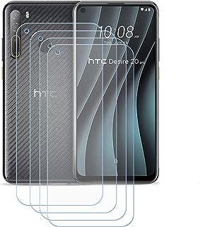 YZKJ 4 stycken skottsäkert glas skyddsfolie för HTC Desire 20 Pro, 9H hårdhet ultra-klar härdat glas displayfilm, anti-olj...