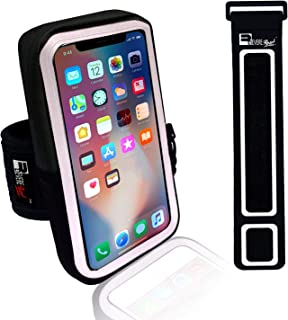 Premium iPhone X/10/11 Pro Running Armband with Face Scanner Access. Sports Phone Arm Case Holder for Runners, Gym Workouts & Exercise (Small - Large Arms)