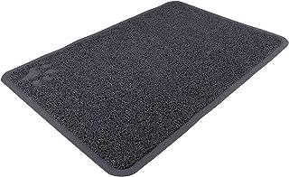 Tapis pour bac à litière, PVC, 40 × 60 cm, anthracite - enlève la litière des pattes
