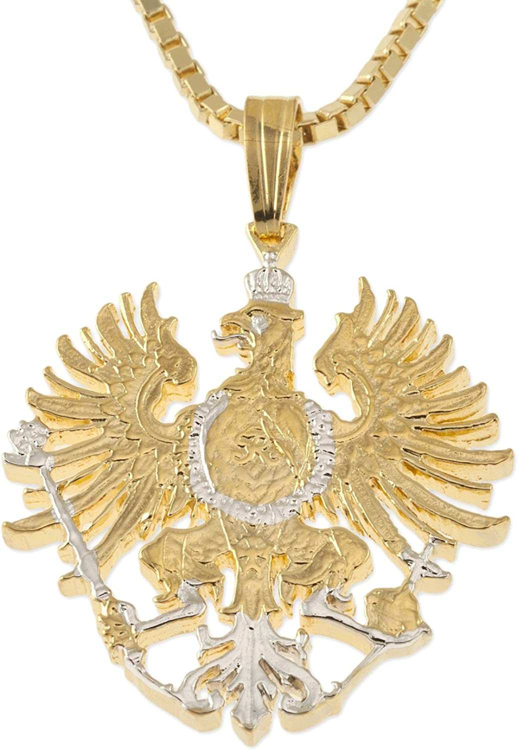 The Difference World Coin Jewelry Germany Pendant & Necklace, German Five Mark Hand Cut