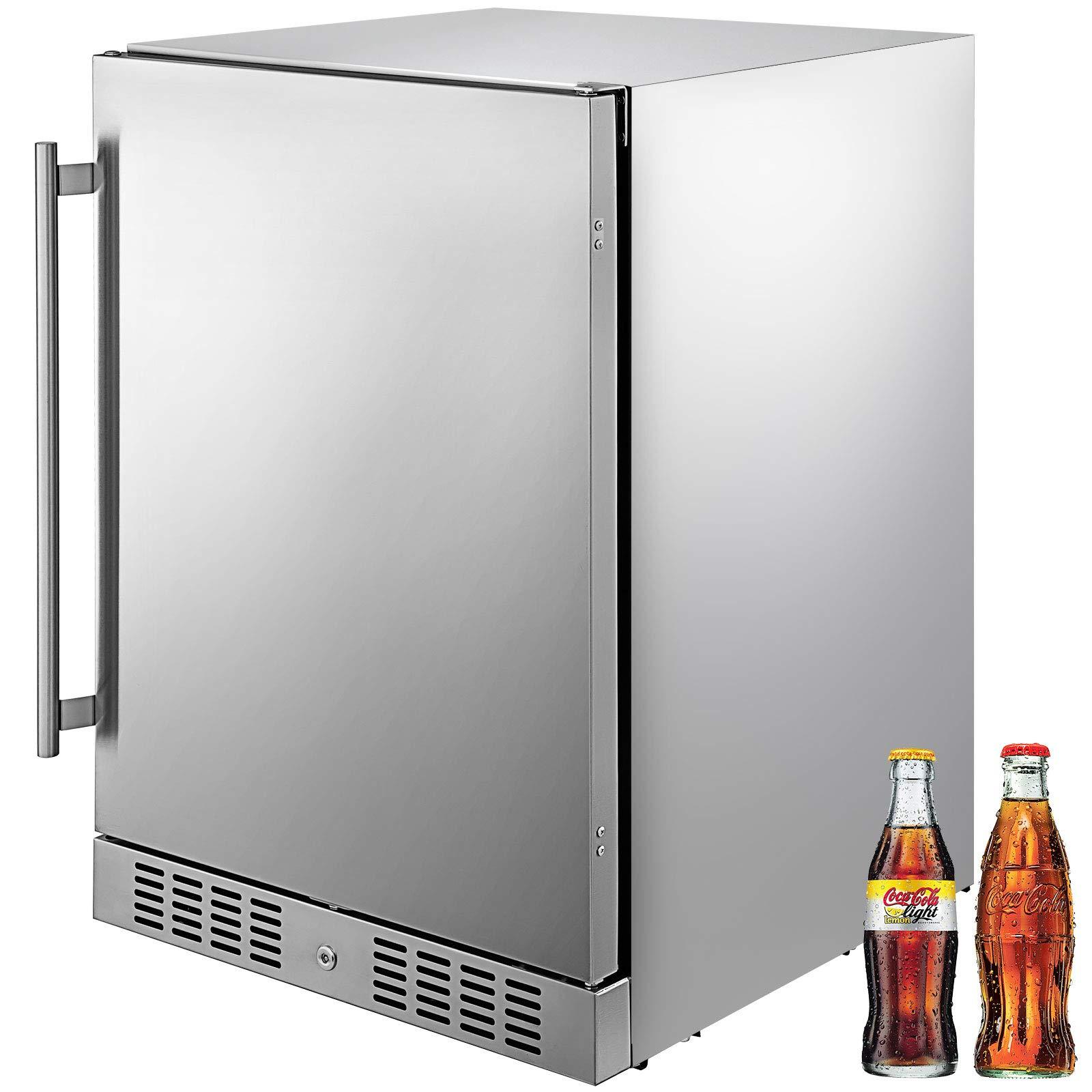 VBENLEM Stainless Reversible Refrigerator Commercial