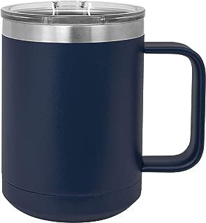 Polar Camel 15 oz. Stainless Steel Vacuum Insulated Mug with Slider Lid (Navy Blue)