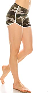ALWAYS Women Camo Yoga Shorts - Premium Buttery Soft Stretch Striped Short Pants