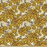 ABAKUHAUS Blumen Stoff als Meterware, Vintage Blumenstrauß